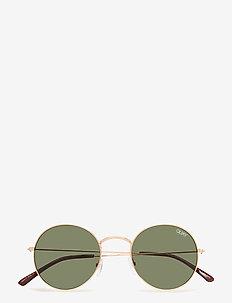 MOD STAR - okulary przeciwsłoneczne okrągłe - gold / green lens