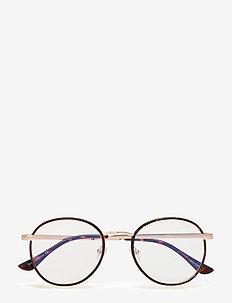 OMEN - round frame - tort / clear blue light lens