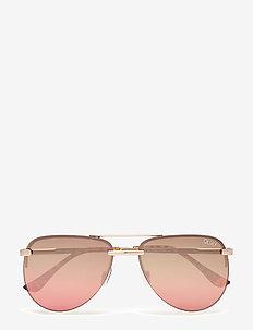 THE PLAYA MINI - pilot - gold / brown pink flash lens