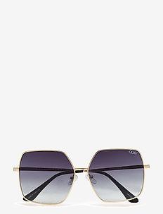 BACKSTAGE - okulary przeciwsłoneczne prostokątne - gold / smoke