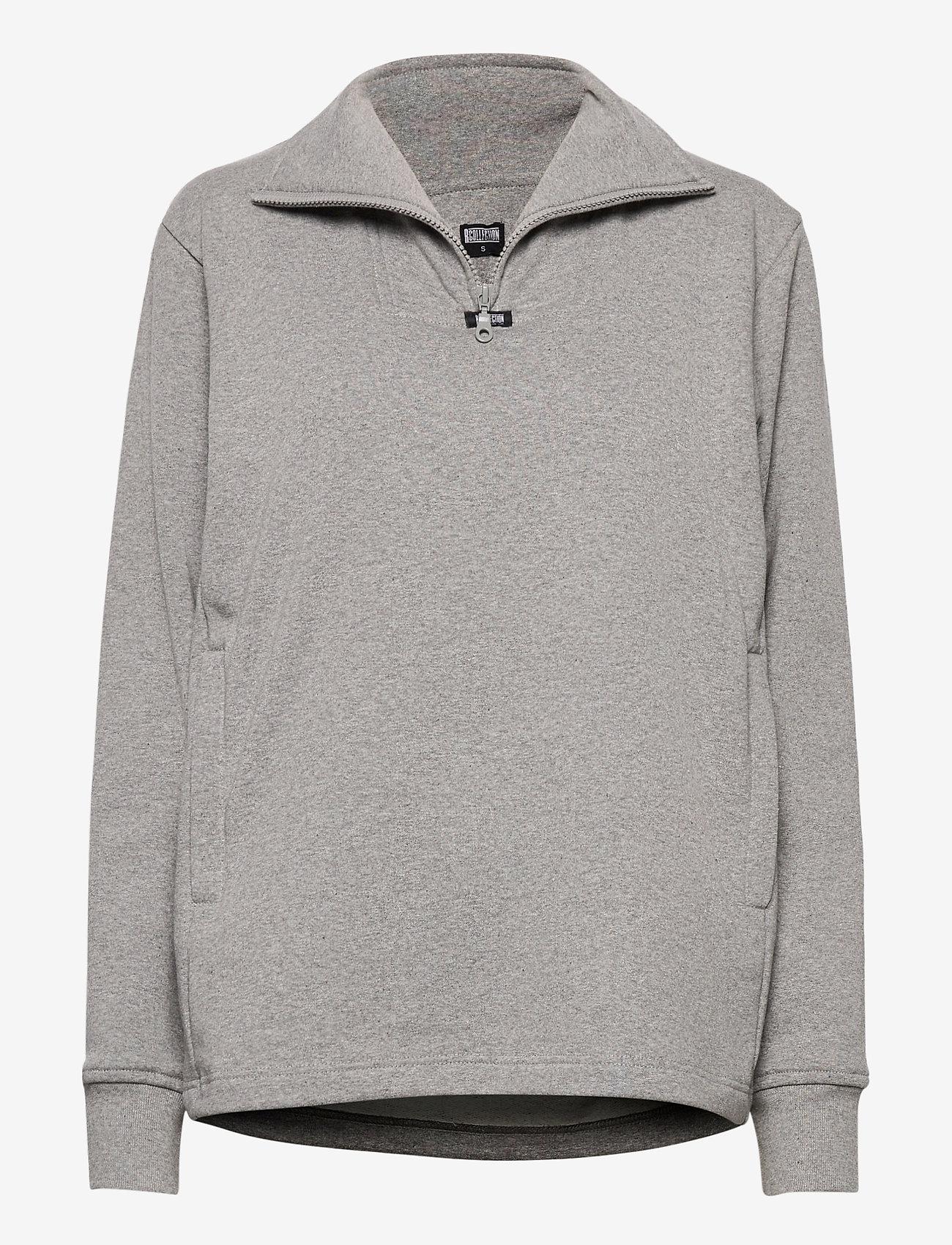 R-Collection - Aatos Sweatshirt - half zip - light grey melange - 0