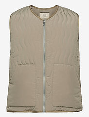R-Collection - Antton Quilt Vest - kamizelki - light moss green - 0