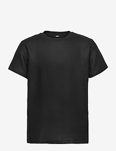 Linen T-Shirt - t-shirts basiques - black