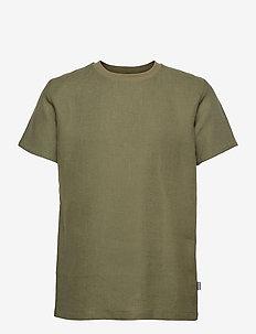 Linen T-Shirt - t-shirts basiques - moss green