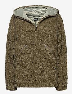 Teddy Anorak - wełniane kurtki - moss green