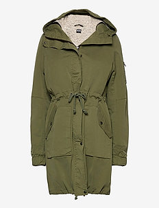 Women's Winter Parka - parka coats - moss green