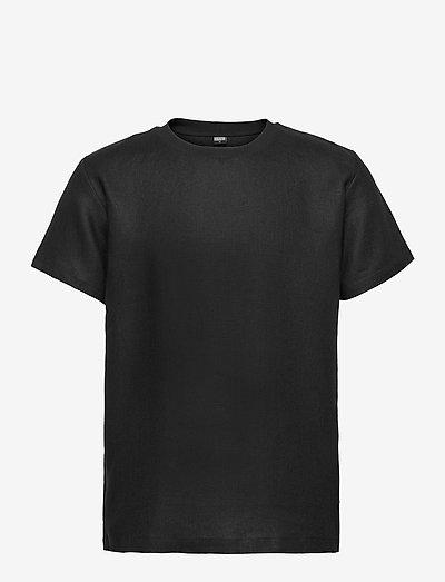 Linen T-Shirt - basic t-shirts - black