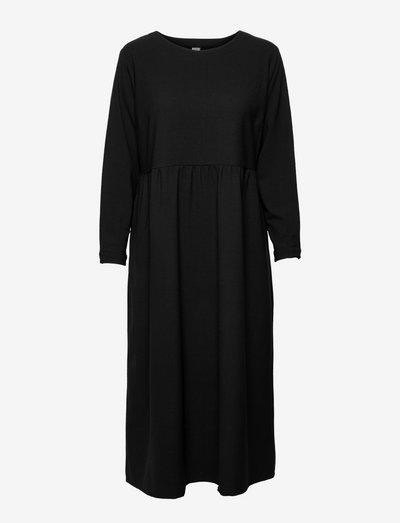 Kirsikka Wool Mix Dress - alltagskleider - black