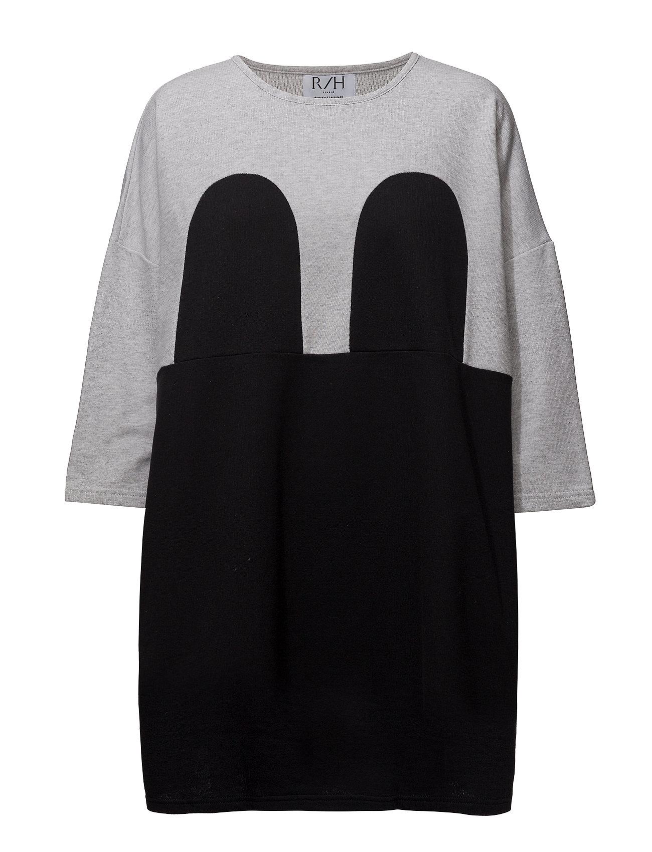 R/H Studio Mickey Square Dress - LIGHT GREY / BLACK