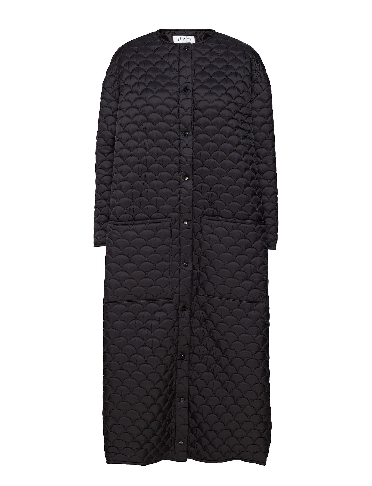 R/H Studio Bobi Long Coat - BLACK QUILTED