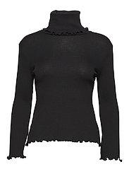 Turtle Rib Sweater - BLACK WOOL JERSEY