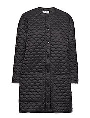 Bobi Coat - BLACK QUILTED