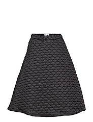 Luna Loose Skirt - BLACK QUILTED