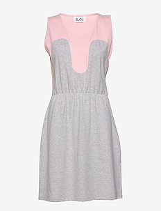 Magic Summer Dress - midiklänningar - light grey / baby pink