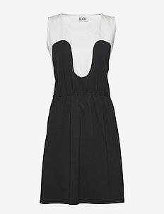 Magic Summer Dress - midimekot - white / black