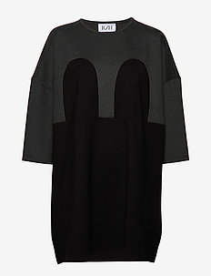 Mickey Square Dress - DARK GREY / BLACK