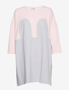 Mickey Square Dress - LIGHT GREY / BABY PINK