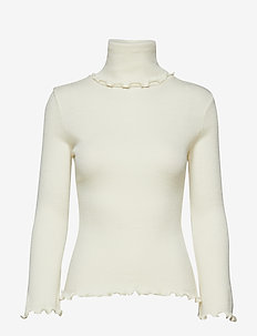 Turtle Rib Sweater - pologenser - cream wool jersey