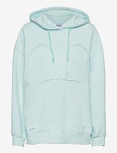 MICKEY OVERSIZED HOODIE - sweatshirts & hættetrøjer - hint of mint