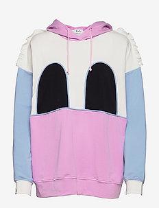 MICKEY RUFFLE HOODIE - sweatshirts & hættetrøjer - pastel lavendel/sky blue/white/black