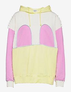 MICKEY RUFFLE HOODIE - sweatshirts & hættetrøjer - tender yellow/pastel lavendel/white/hint of mint