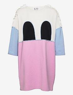 MICKEY RUFFLE SQUARE DRESS - sommerkjoler - pastel lavendel/sky blue/white/black
