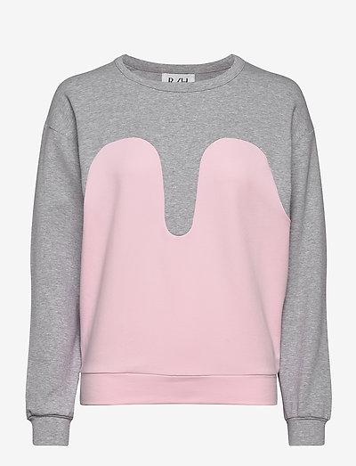 Magic Sweater - sweatshirts & hoodies - light grey / baby pink