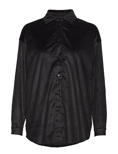 Abi Collar Shirt - BLACK LINE VELVET
