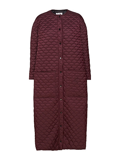 Bobi Long Coat - PINOIT NOIR QUILTED