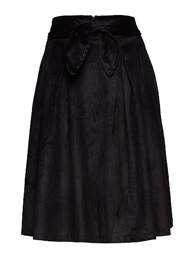Ada Knot Skirt - BLACK LINE VELVET