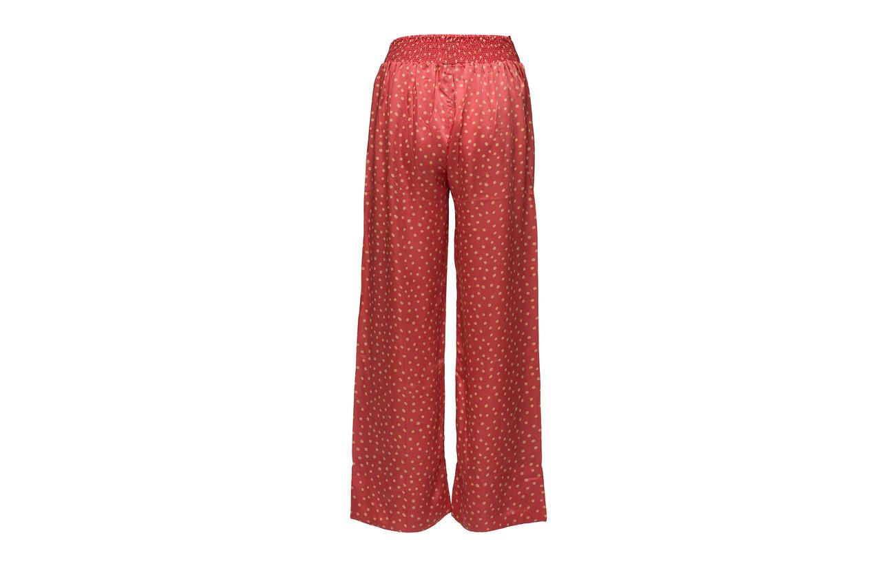 Leg Pant Modale 55 Dot 45 Red Cupro Poppy Rabens Wide Saloner IxOpZp