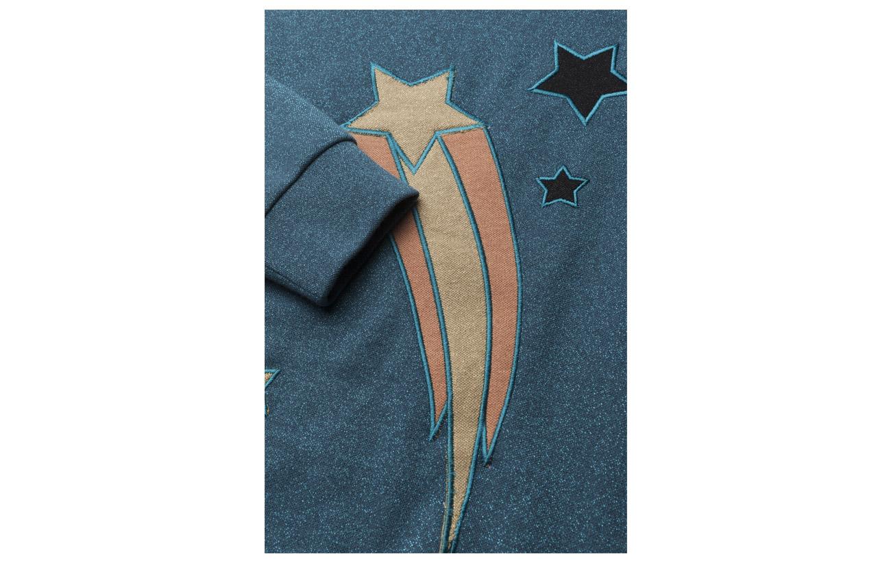 Polyester 10 Lurex 30 Sweat Blue Saloner Rabens Top Active Coton Midnight 60 Sparkle vUP77wqxB