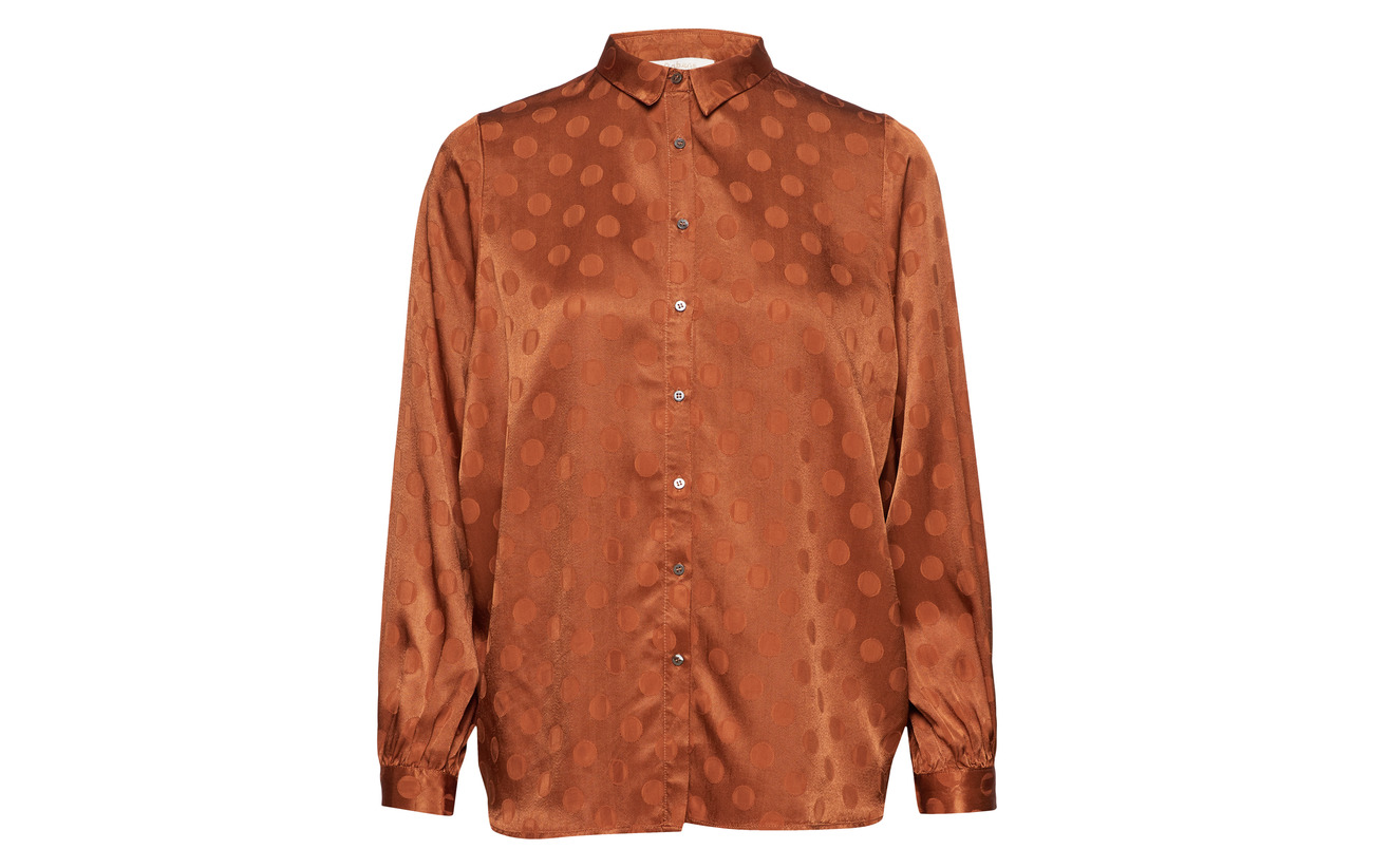 Jacquard 100 Dot Glazed Viscose Shirt Saloner Rabens Ginger qCwx8gS