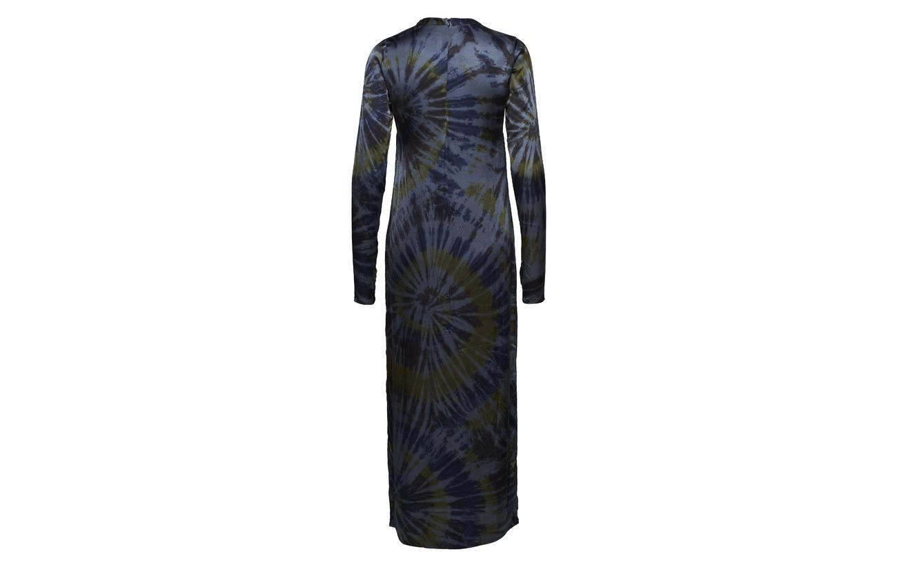 Elastane 95 Navy 5 Rabens Saloner Viscose Abstract Tube Dress 6w81nzqv