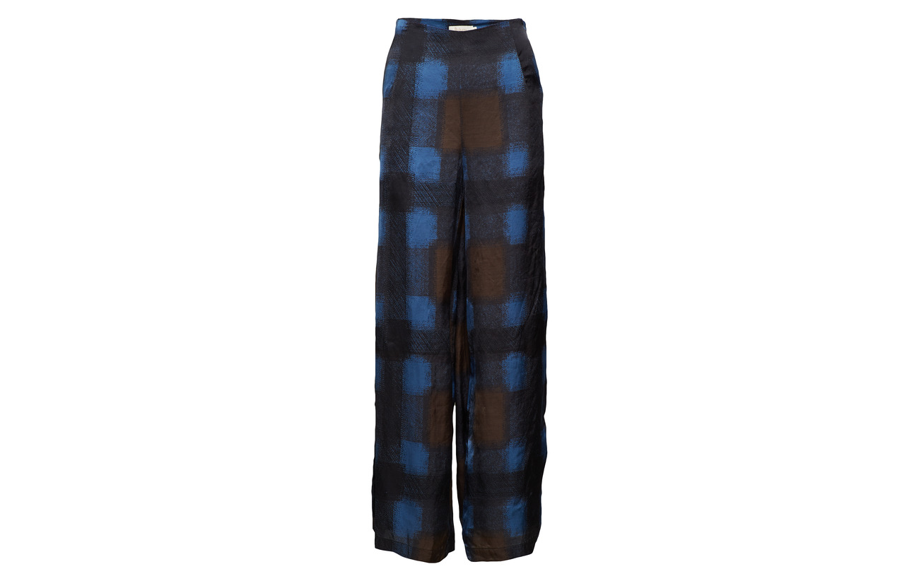 Wide Blue 95 Elastane Saloner Pant Geometric Rabens Viscose Leg 5 nw6a1Xx