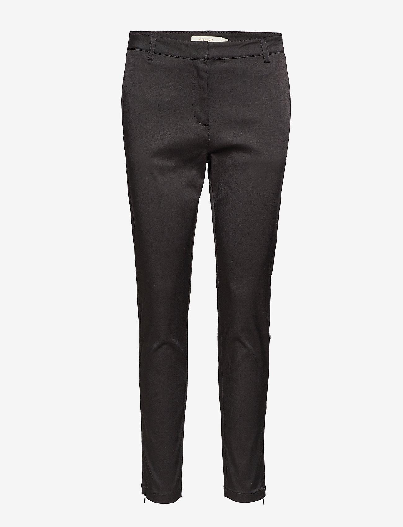 Rabens Saloner - Nina - slim fit bukser - black - 0