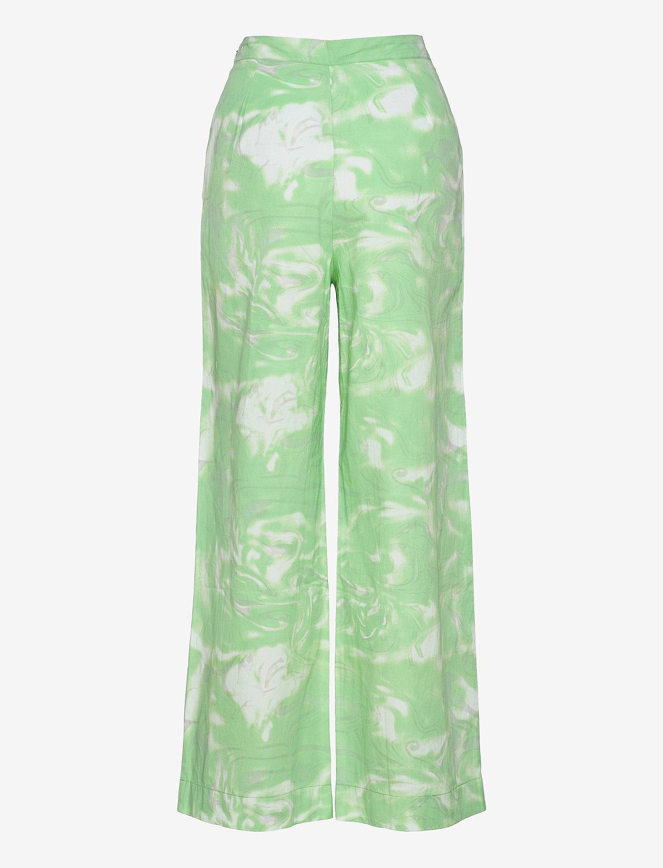 Rabens Saloner - Loa - bukser med brede ben - green combo - 1