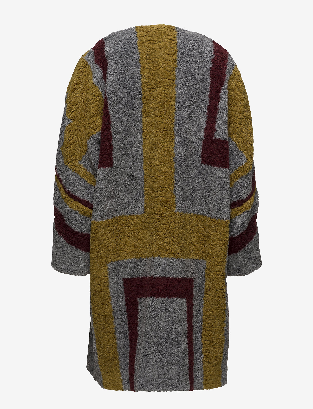 Rabens Saloner - Tribal knit coat - wollen jassen - bordeaux - 1