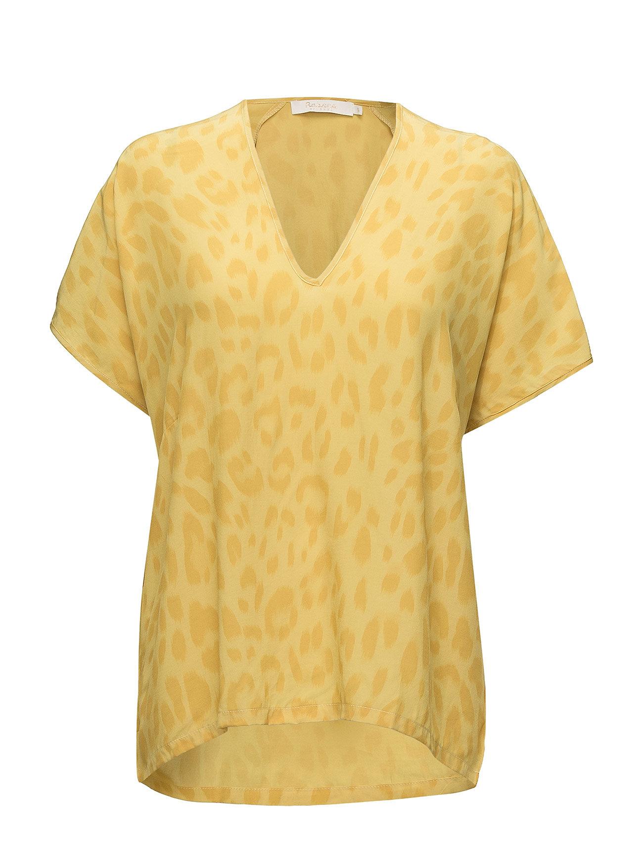 Rabens Saloner Bright leopard blouse - TURMERIC