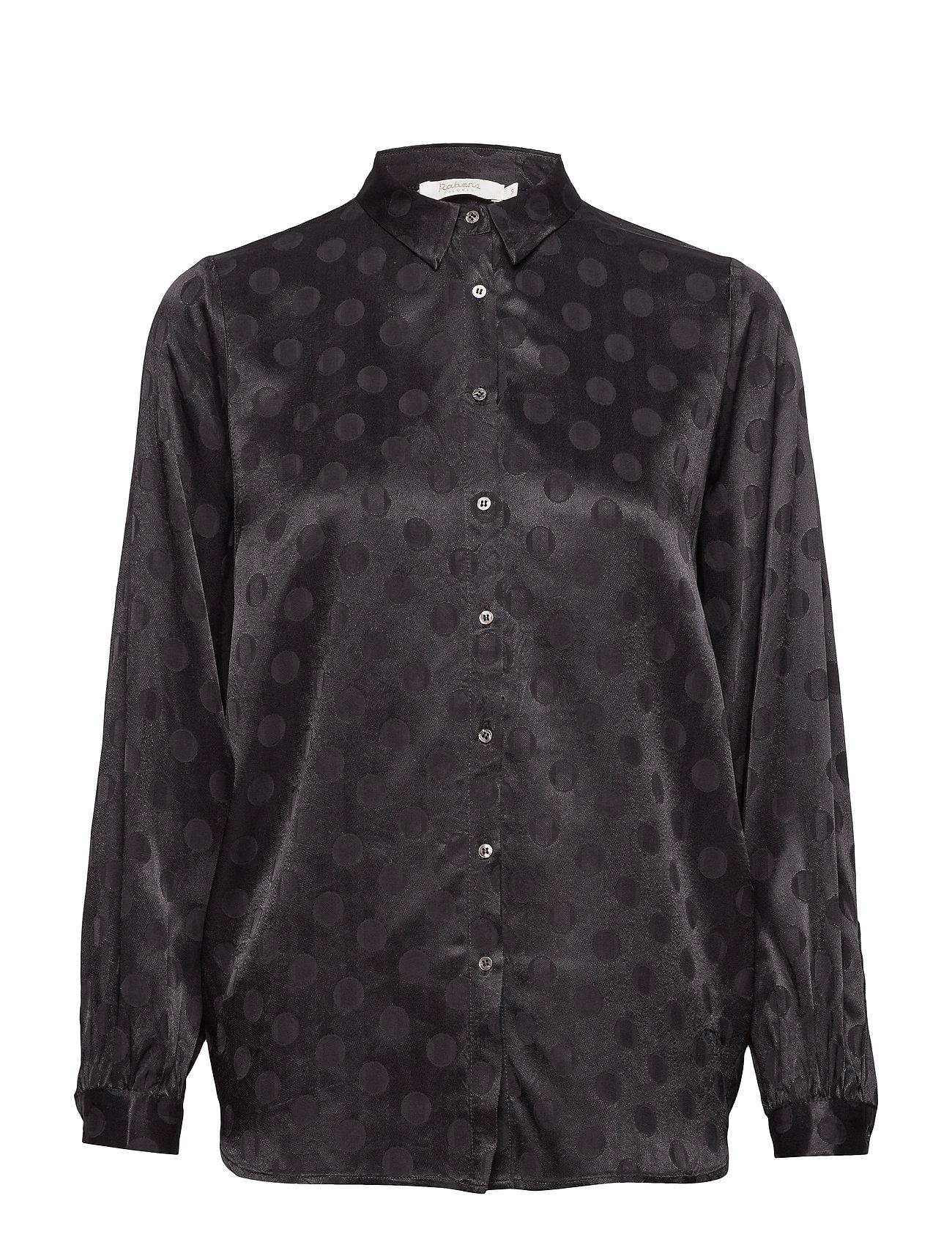 Rabens Saloner Dot jacquard shirt - BLACK