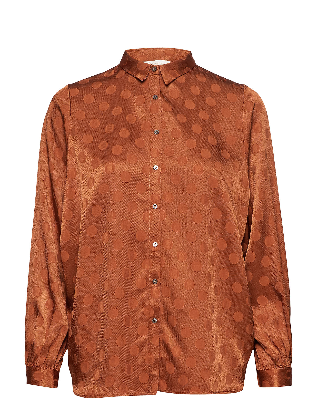 Rabens Saloner Dot jacquard shirt - GLAZED GINGER
