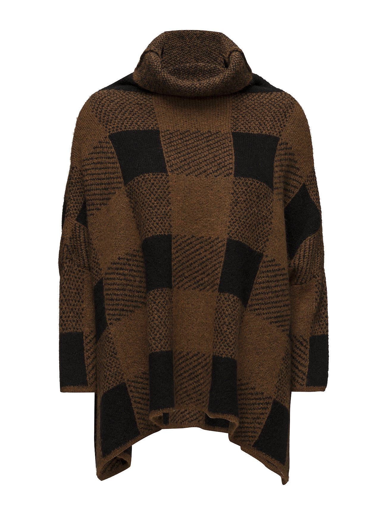 Rabens Saloner Blurred check tunic sweater - GLAZED GINGER