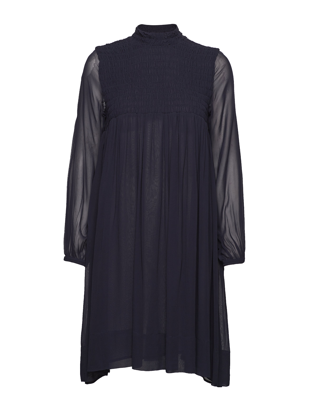 Rabens Saloner Smocking dress - BLUE