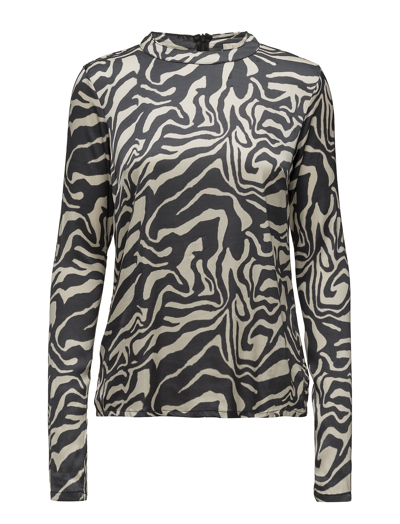 Rabens Saloner Safari tube blouse - BONE