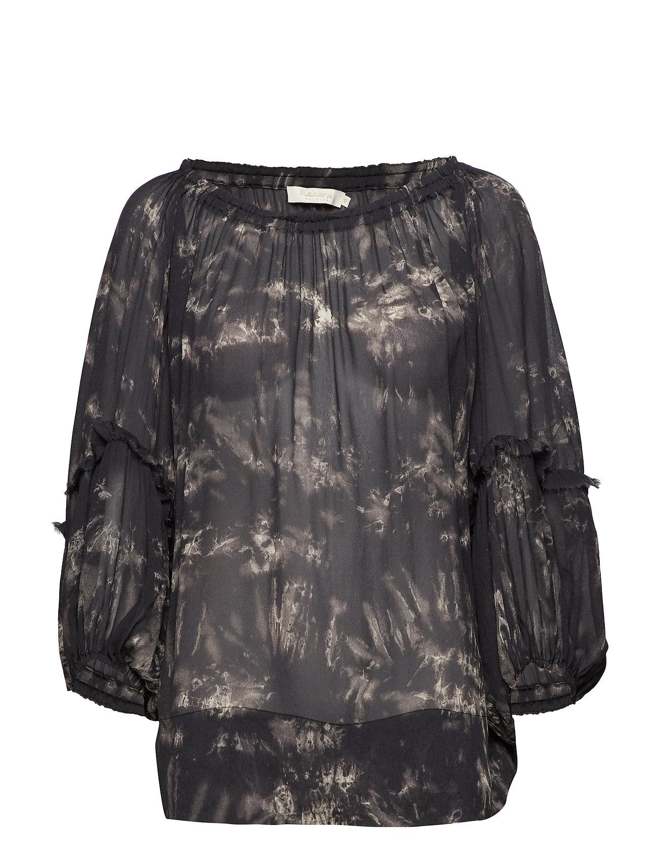 Rabens Saloner Wave blouse Ögrönlar
