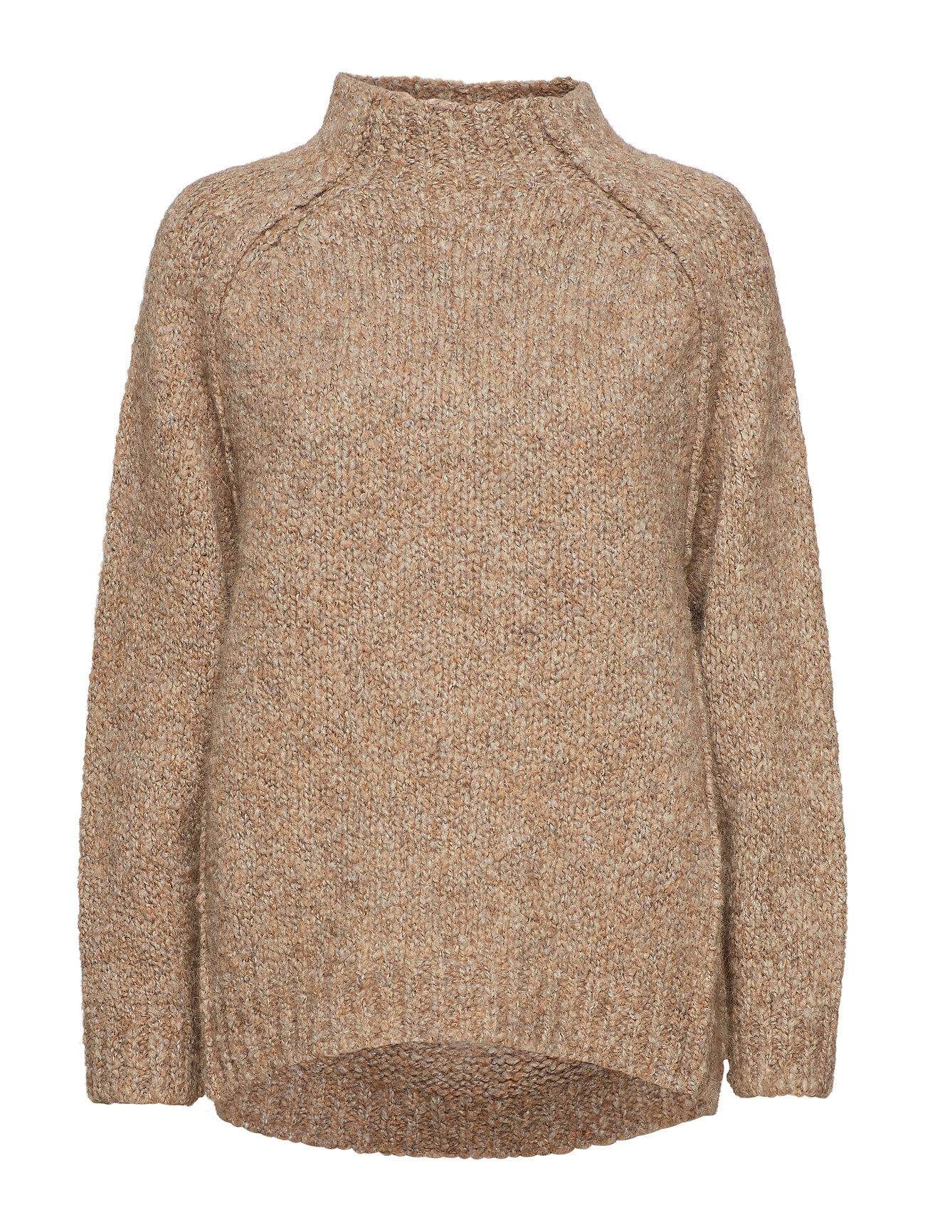 Rabens Saloner Fluffy knit open back sweater Ögrönlar