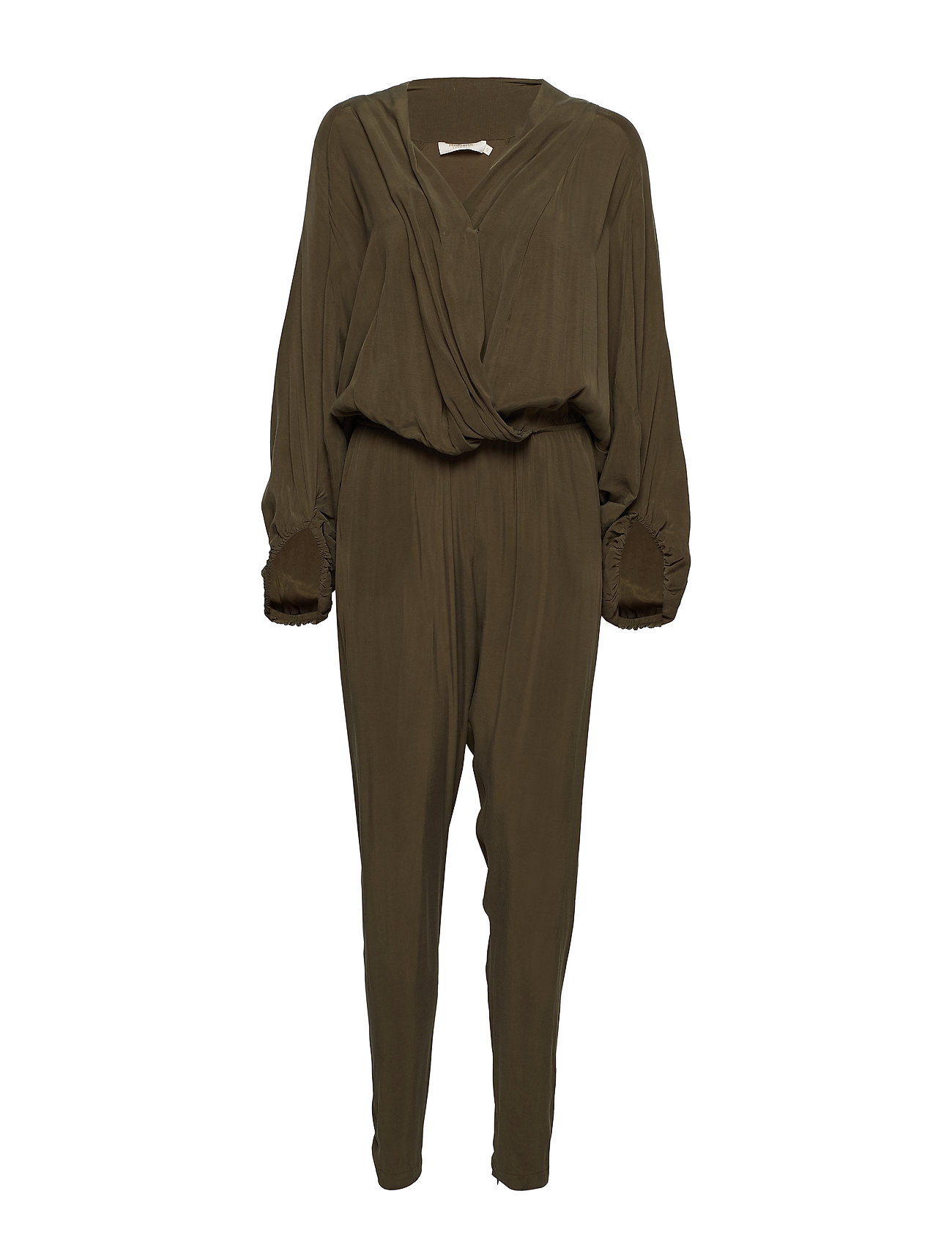 Rabens Saloner Sand washed draped jumpsuit
