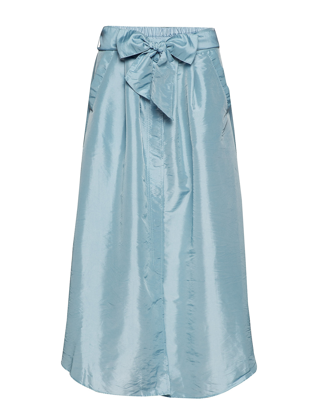 Rabens Saloner Tafetta skirt - PALE BLUE