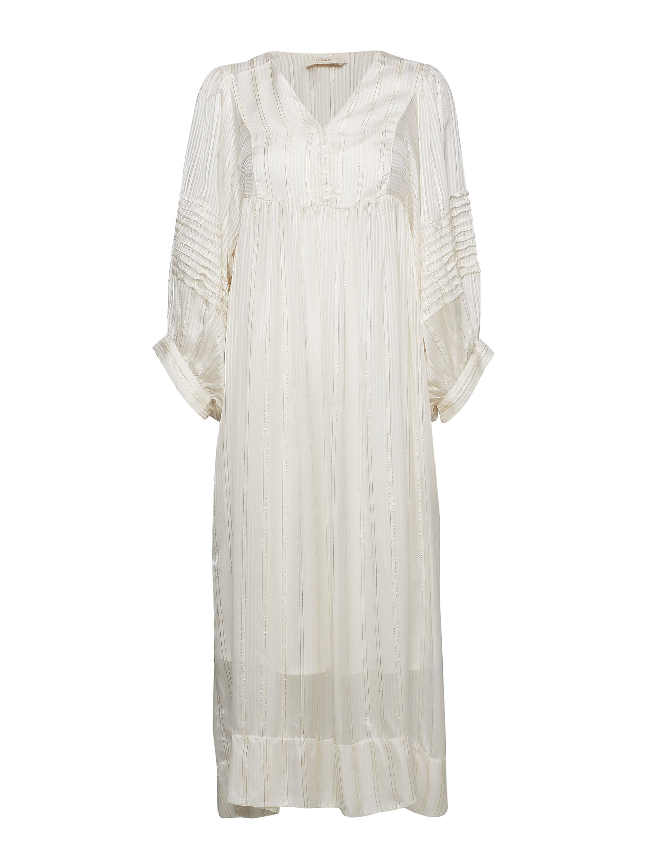 Rabens Saloner Lurex stripe ls long dress Klänningar