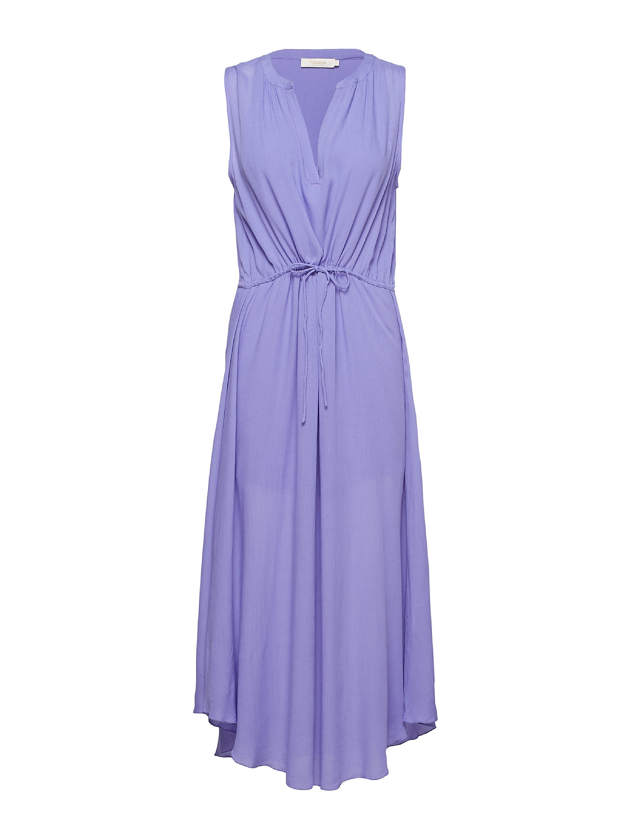 Rabens Saloner Crinkle drawstring dress - LAVENDER